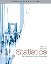 Statistics for Management and Economics, Abbreviated by Gerald Keller(2015-01-01)