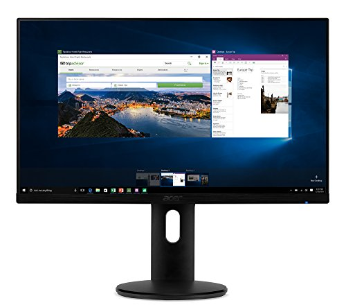 Acer ET241Y Abmir 23.8' Full HD (1920 x 1080) IPS Zero Frame Monitor with Tilt/Height Adjustment and Built-in Speakers (HDMI & VGA Port)