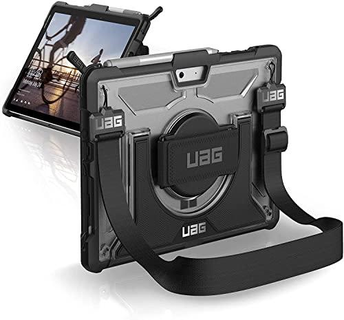 Urban Armor Gear Plasma Schutzhülle nach US-Militärstandard für Microsoft Surface Go- transparent [Handschlaufe I Type Cover kompatibel I Standfunktion I Verstärkte Ecken I Sturzfest] - 321073114343