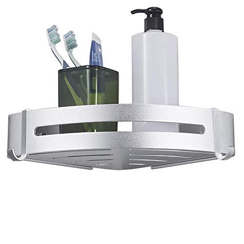 LOBKIN Estanteria Baño Ducha Rinconera Estantería de Esquina para Baño Ducha Aluminio, Acabado Mate, Estantes (Una Sola Capa)