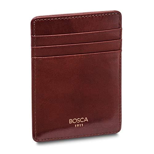 Bosca Men's Front Pocket Wallet in Dark Brown Old Leather - RFID