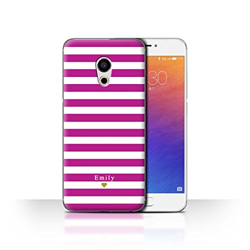 Stuff4 Phone Case/Cover/Skin/mzupro6/Custom Stripes/Striped Collection Coeur/Fuchsia Rose