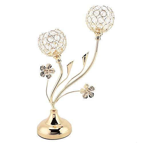 EVTSCAN Candelabro de Cristal para Mesa de Centro, Centro de Mesa Decorativo, candelabro para Boda