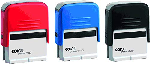 Colop Printer Stempel Compact Verschiedene GRÖßEN (20) mit individueller Textplatte/Logo