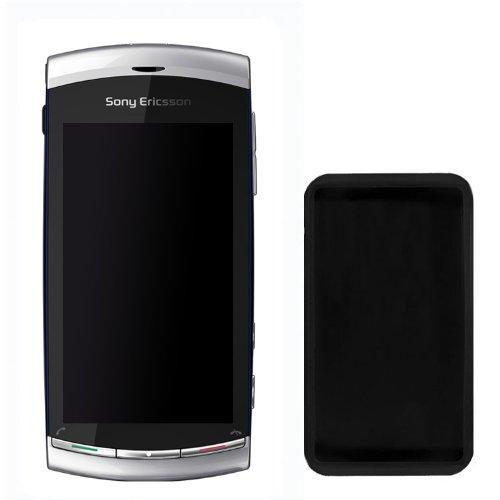 Celly Cover in Silicone per Sony Ericsson Vivaz, Nero
