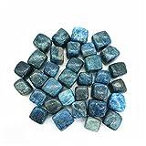 LULIJP Piedras Decorativas Natural Pulido Bonito Azul apatito Cuarzo de Cuarzo Cubo de Piedra caído para la decoración del Acuario (Color : Apatite Cube, Size : 200g)