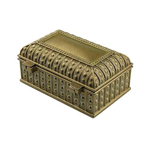 ReedG Caja de Joyería La Boda joyería cosmética Caja de Almacenamiento Cuadro de Estilo Europeo Retro Caja de joyería para Mujeres (Color : Bronze, Size : 9x6.5x4.2cm)