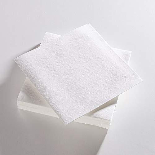 Le Nappage - Serviettes de Table Airlaid Couleur Blanc - Serviettes Papier Certifiées FSC® - Biodégradables et Compostables - Format 40 x 40 cm 3 plis - Lot de 25 Serviettes Blanches