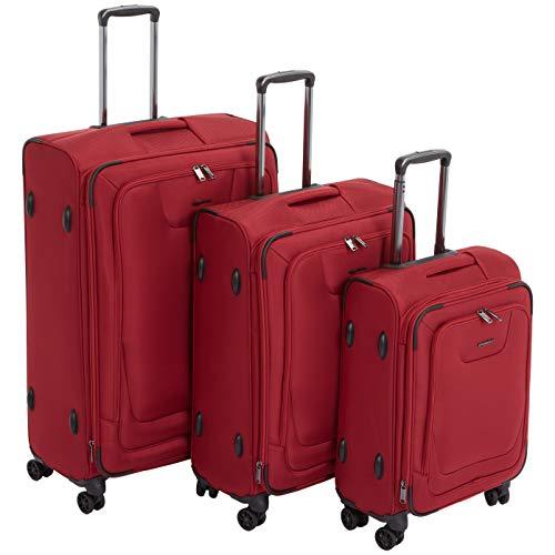 AmazonBasics - Set de dos maletas con ruedas, de calidad superior, expandible,...