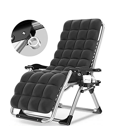 CZLSD Silla reclinable Plegable para la Oficina Interior jardín al Aire Libre Barbacoa Camping Metal Plegable reclinable Playa Almuerzo Descanso Ocio Cama (Color : Dark Khaki)