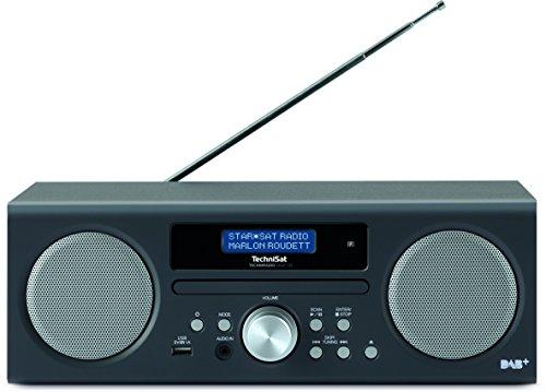 TechniSat TECHNIRADIO DIGIT CD Digital-Radio (mit CD-Player, MP3-Player, DAB+, PLL-UKW Tuner, USB, 10 Watt RMS) anthrazit