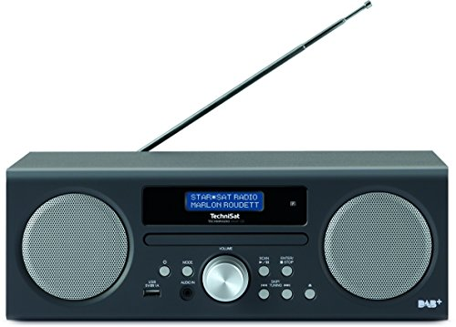 TechniSat TECHNIRADIO DIGIT CD Digital-Radio (mit CD-Player, MP3-Player, DAB+, PLL-UKW Tuner, USB, 10 Watt RMS) anthrazit