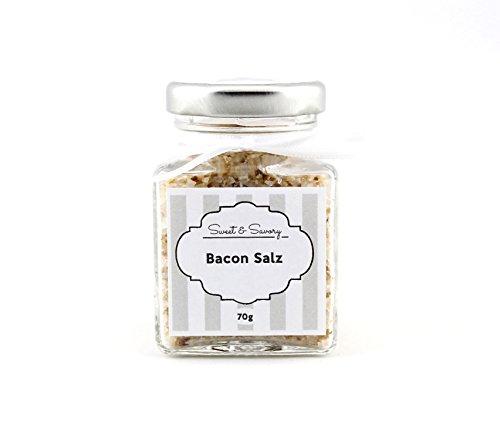 Baconsalz, Bacon Salz, Bacon-Salz, Gourmet-Salz, Bacon, Salz, 70g, ideal als Geschenk zum grill, Geburtstag, Ostern, Weihnachten
