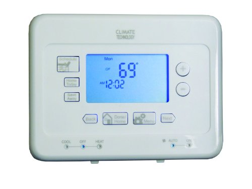 Supco 53300 Thermostat, 7 Day Programmable, Easy Install Features