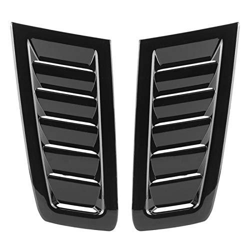 Capó de ventilación de capó,Akozon accesorio de automóvil modificado de ABS de capó automático de automóvil para Focus RS MK2(Negro brillante)