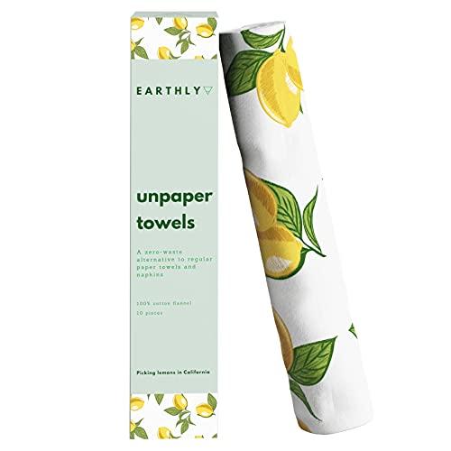 Earthly's Unpaper Towels Reusable Napkins - 100%...