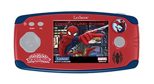 Spiderman JL2365SP Marvel, Spider-Man-Consola portátil con 150 Juego, Pantalla LCD 6.1cm (Lexibook