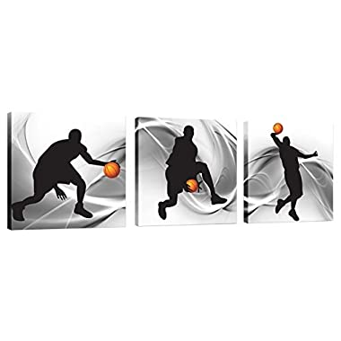 Natural art – Basketball Sports Themed Canvas Wall Art for Boys Room Baby Nursery Décor Kids Room Basketball Boys Gift