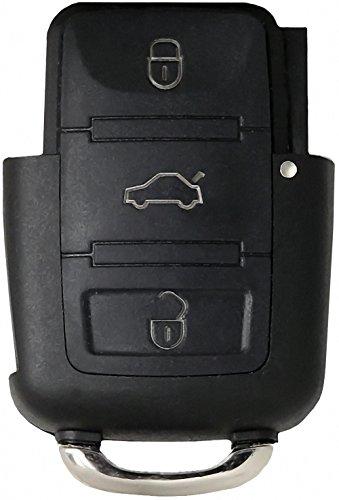 Liamgate Ersatz Schlüsselgehäuse geeignet für VW-Schlüssel-mit-3-Tasten