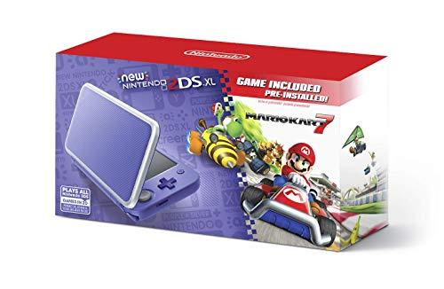 Nintendo 2DS XL - Purple + Silver With Mario Kart 7 Pre-installed - Nintendo 2DS (Renewed)