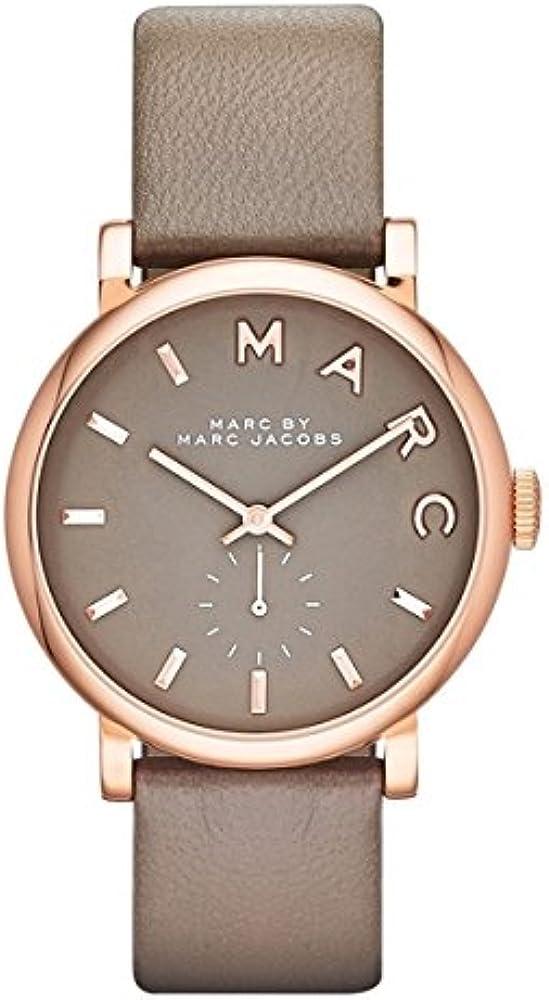 Marc jacobs, orologio da donna,cassa in acciaio rosa pvd,e cinturino in pelle 8431242820439