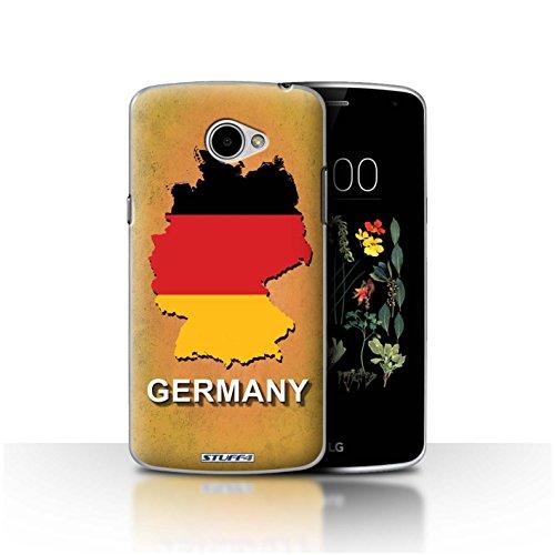 Hülle Für LG K5/X220 Flagge Land Deutschland/Deutsch Design Transparent Ultra Dünn Klar Hart Schutz Handyhülle Hülle
