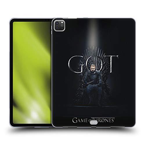 Head Case Designs Officieel Gelicentieerd HBO Game of Thrones Grijsworm Seizoen 8 Voor De Troon 2 Soft Gel Case compatibel met Apple iPad Pro 12.9 (2020/2021)