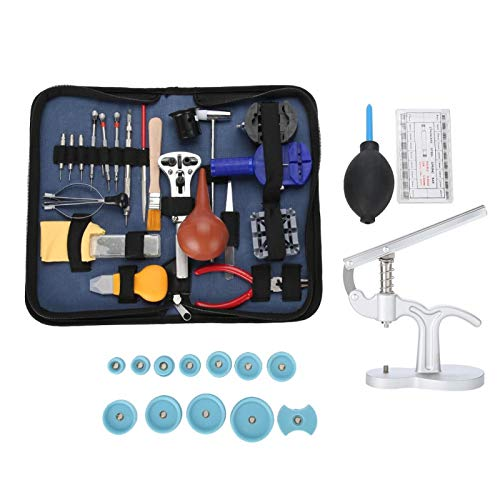Meiyya Reloj Kit de Herramientas para Quitar la Espalda, Kit de reparación de Relojes, Kit de Herramientas de reparación de Relojes Estuche para Uso doméstico Uso Profesional Relojeros