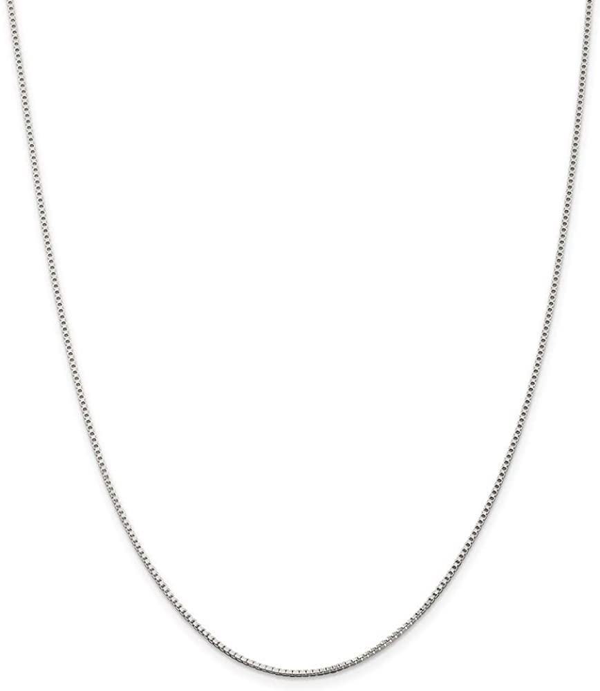 925 Sterling Silver Spring new work latest 1.25mm Link Box Inch Necklace 28 Chain Penda
