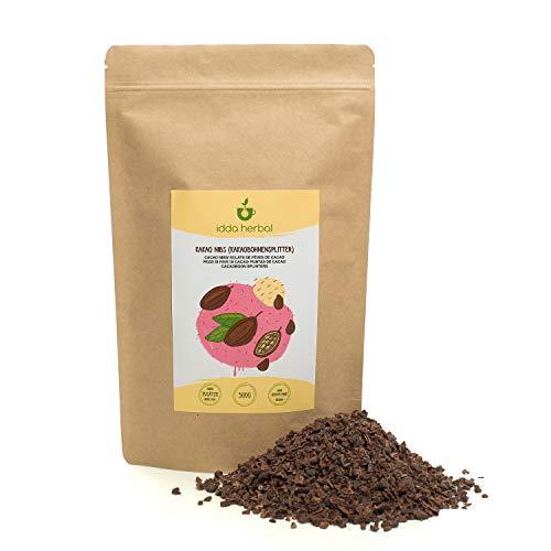 Pépites de cacao (500g), éclats de cacao cru, 100% naturel, fèves de cacao en morceaux, non traitées, vegan