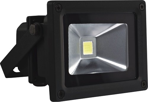 Velamp IS140 Projecteur COB LED IP65 10W 6500K Aluminium Noir