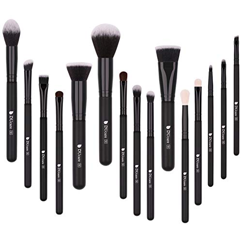 DUcare Makeup Brush Set 15pcs Professional Synthetic Essential Face Eye Shadow Eyeliner Foundation Blush Lip Powder Liquid Cream Blending Brow Brushes Make Up Brushes Set