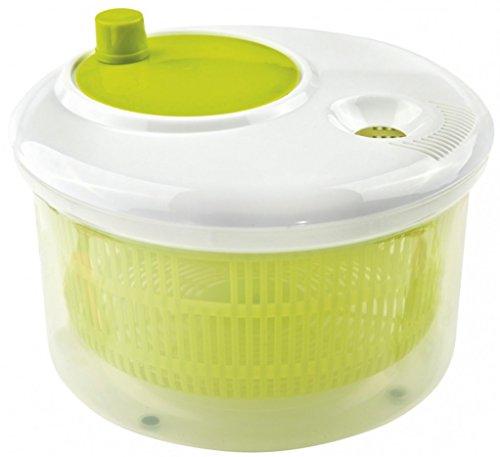 Space Home - Centrifugadora/Escurridor para Ensalada y Vegetales - Spinner para Verduras - Ø 22 x 15 cm - Verde
