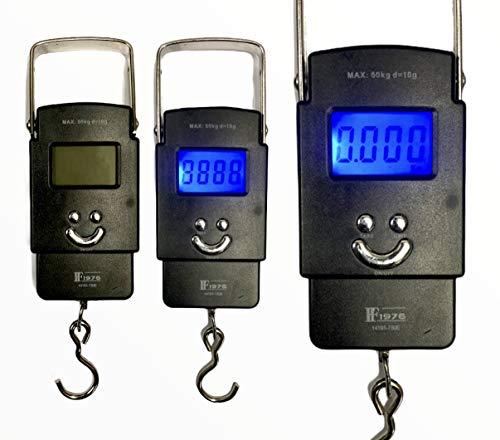Balanza portátil de equipaje 50kg electrónica digital maleta bolsa de viaje colgante balanza de pesaje con batería pantalla LCD