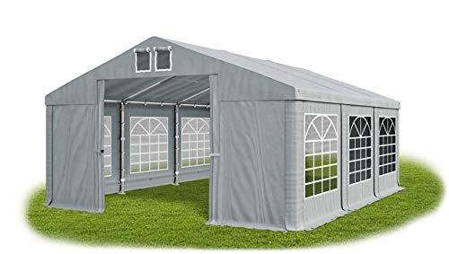 Das Company Partyzelt 5x6m wasserdicht grau Zelt 560g/m² PVC Plane Hochwertigeszelt Gartenzelt Summer SD