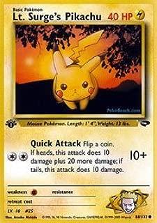 Pokemon - Lt. Surge's Pikachu (84) - Gym Challenge - 1st Edition