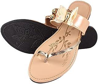 Family Fashion MART Women's Butterfly-Flats-Cream (S.NO-16)