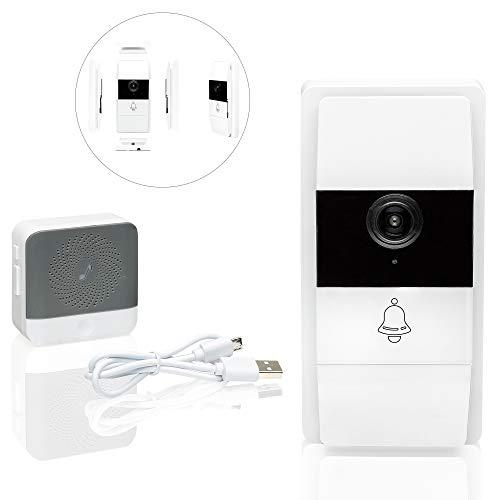 Safe2Home Türklingel mit Kamera/Video Türsprechanlage - WLAN Funk Klingel Haustür kabellose Sprechanlage für Einfamilienhaus - drahtlose Funkklingel - Smartphone via App - kein Cloud Service