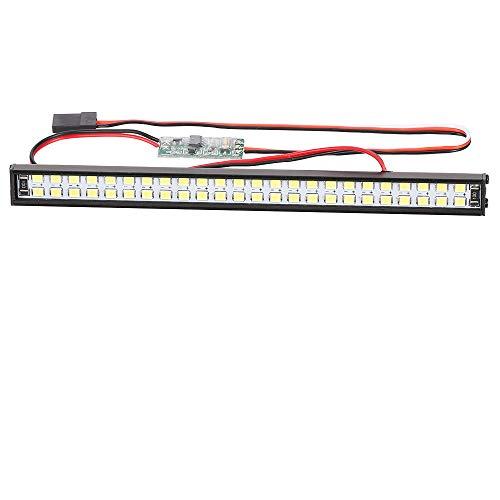 conpoir Barra de Luces LED RC 147mm / 5.8in Lámpara de Techo de Metal Faro de luz 48LEDs Luz para 1/10 Traxxas TRX-4 TRX-6 D90 HSP Redcat RC 4WD Tamiya Axial SCX10 HPI RC Car DIY