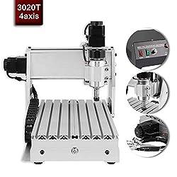 CNC Milling Machine 3020T 4 Axis Engraving Machine USB CNC Router 200mm x 300mm Engraver Milling Milling Machine USBCNC Software