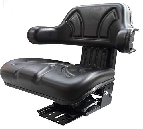 KlaraSeats Schleppersitz Traktorsitz KS 44/2V PVC Schwarz neigungsverstellbar