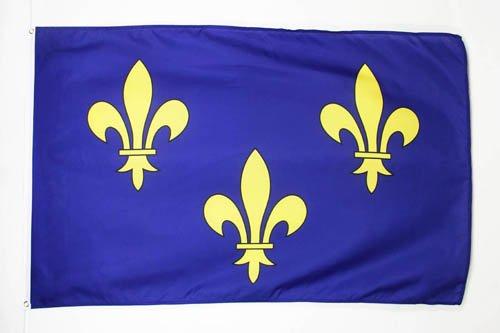 AZ FLAG Flagge ILE-DE-France 150x90cm - Paris Fahne 90 x 150 cm - flaggen Top Qualität