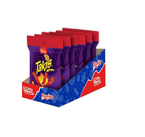 Vero Takis Fuego Lollipop – Chamoy Flavored Lollipop with Chili Powder – Hot and Spicy Mexican Candy, Box with 6 Bags of 3 Pieces