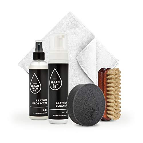 CLEANTECH CO Set de cuidado de cuero Leather Care Kit 200 ml + 200 ml protector de cuero coche protección UV