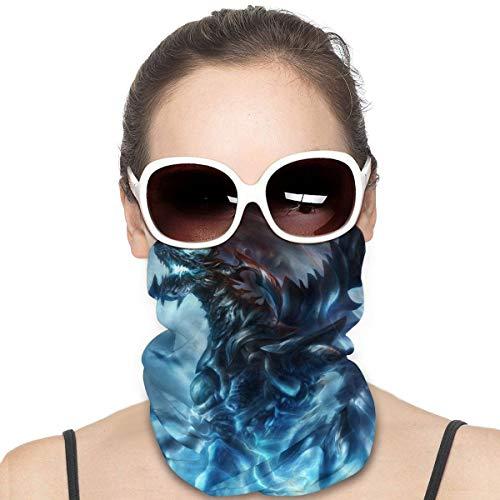 NA Variety Kopftuch Halswärmer Bandanas Outdoor Kopfbedeckung Schal Halstuch Bandanas für Männer und Frauen Bandana Thunder Dragon Blue Lightning