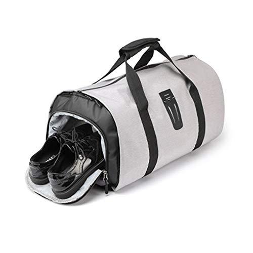 ジムダッフルバッグ 多機能ビジネスバッグセット収納袋大容量ハンドバッグスポーツヨガトラベルバッグ ワー...