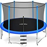 Zupapa 15FT 14FT 12FT 10FT Kids Trampoline 425LBS Weight Capacity with Enclosure net Include All Accessories Outdoor Backyard Trampoline(14FT)