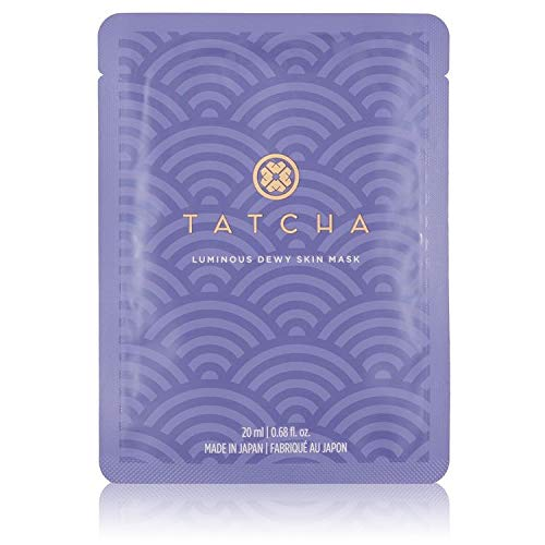 Tatcha Luminous Dewy Skin Mask: Nourishing Single-Use Mask Infused with Green Tea, Rice, and Algae for Moisturized Skin (20 ml | 0.68 oz)
