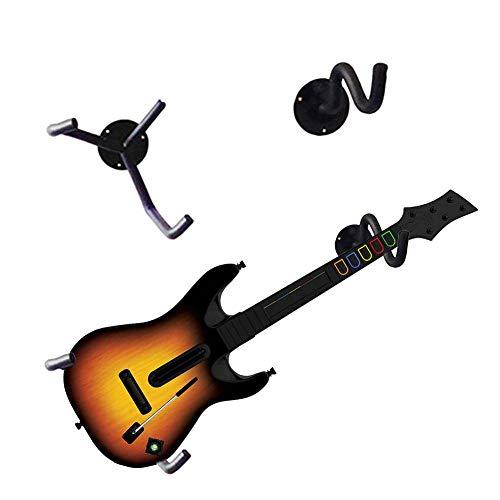 Ecisi 2 Piezas Inclinación de la suspensión de Guitarra en ángulo, Soporte de exhibición de Guitarra, Montaje de Soporte de Pared para Guitarra Horizontal Soporte para bajo Estante para Ukelele