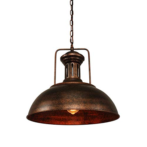 Pendant Lighting Industrial Nautical Barn Pendant Light Single with Rustic Dome Bowl Shape Mounted Fixture Ceiling Lamp Chandelier